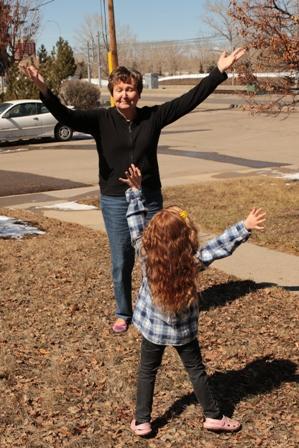 Dancing with my granddaughter