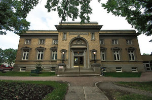Moose Jaw Public Library image courtesy of the Institute for Stained Glass in Canada