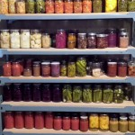 A section of one of my canning shelves